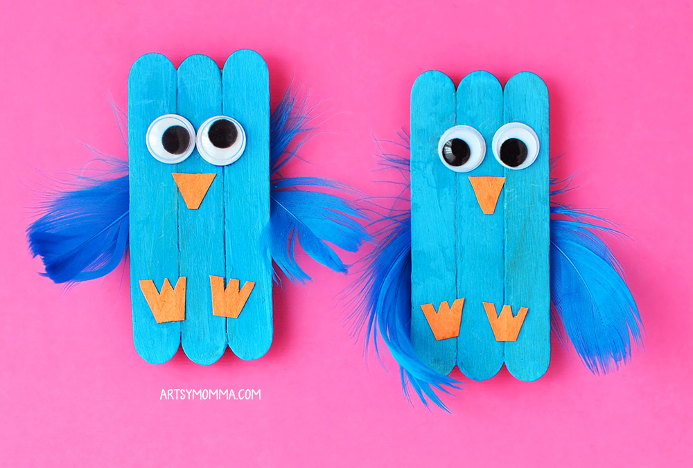 Baby Bluebird Mini Craft Stick Magnets
