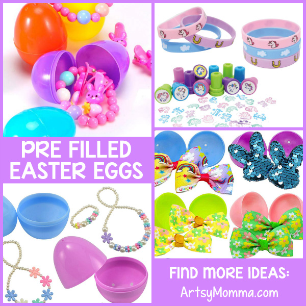 Pre Filled Plastic Easter Eggs with Accessories