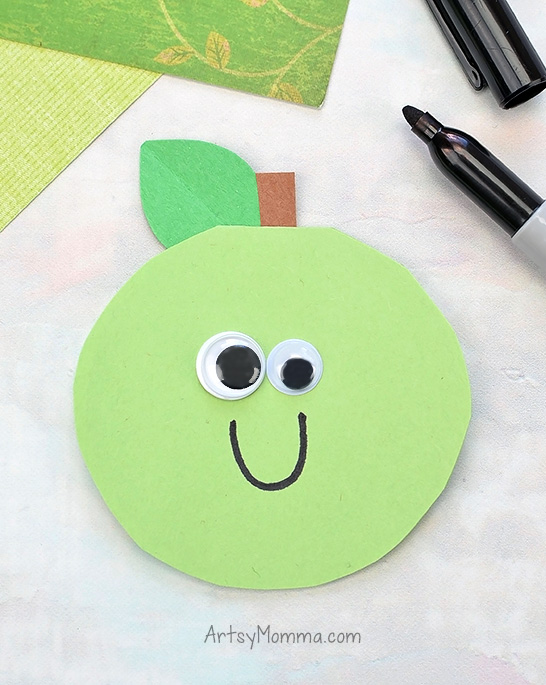 Adorable Apple Card For Kids To Make Mom