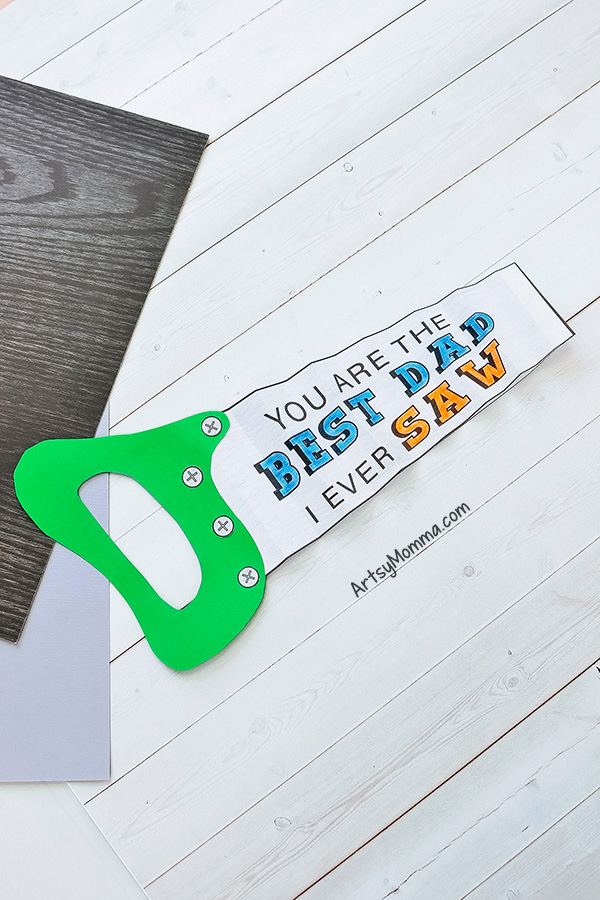 You Are the Best Dad I Ever Saw Card Idea for Father's Day