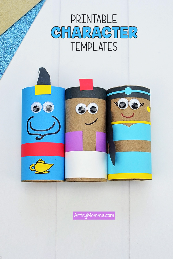 Cardboard Tube Aladdin Characters with Printable Templates