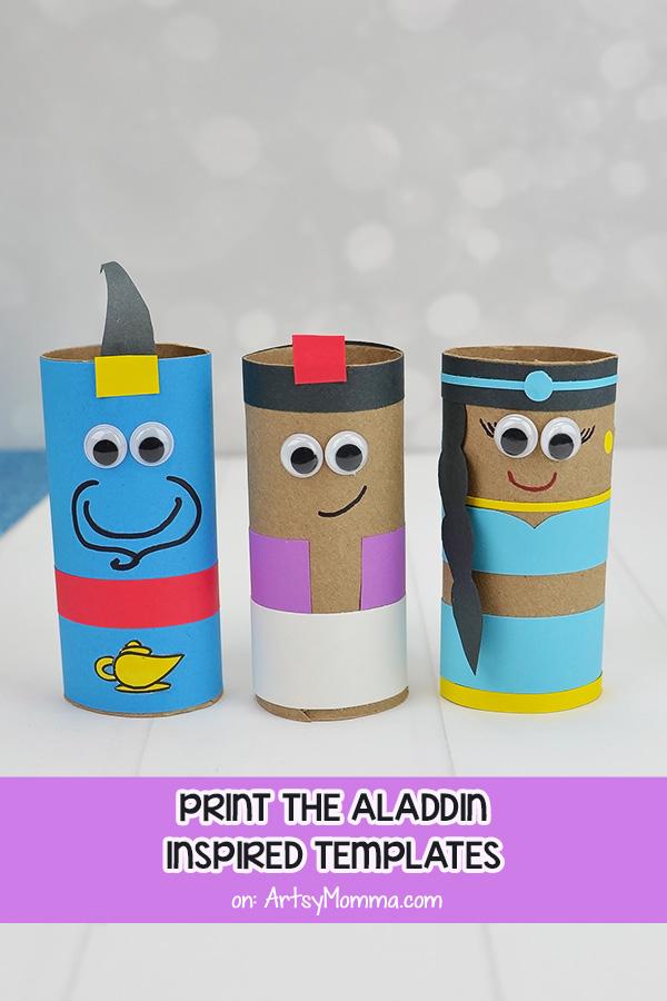 Disney's Aladdin Movie Character Crafts For Kids: Genie, Aladdin, & Princess Jasmine