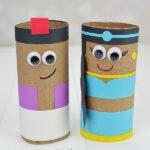 Cardboard Tube Aladdin & Princess Jasmine Craft