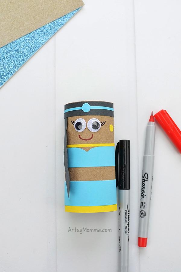 Princess Jasmine Cardboard Tube Craft