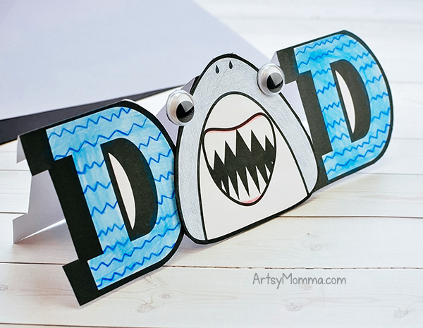 Dad Card with Shark Template to Print