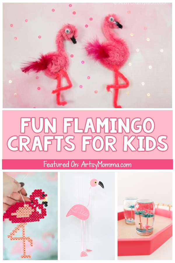 Collection of DIY Flamingo Crafts