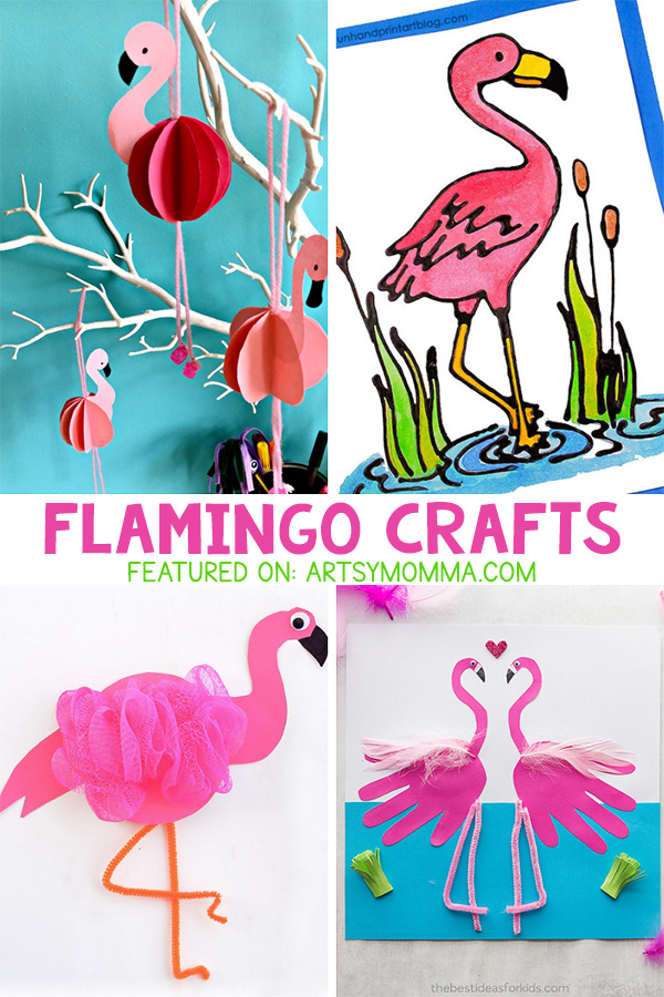 Pink Flamingo Crafts for Kids