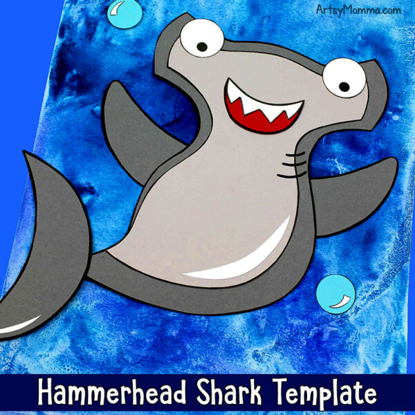 Kids Hammerhead Shark Craft with Printable Template