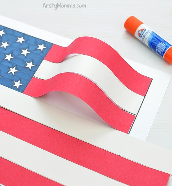Wavy 3D Paper Flag Effect
