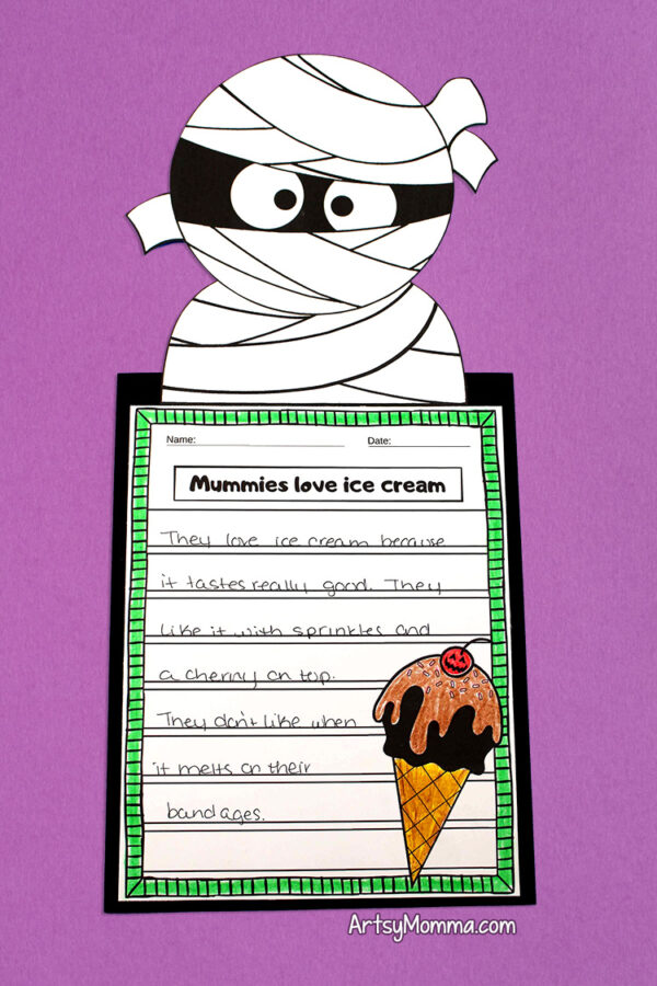 Mummy Craft for Kids with Story Template