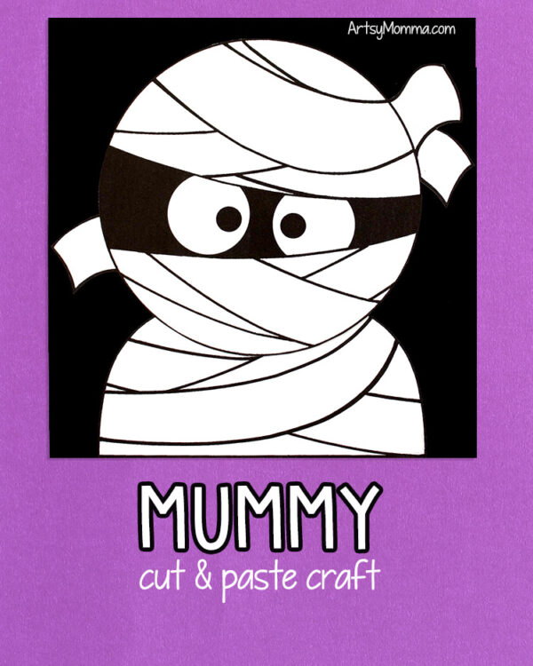Kids Halloween Mummy Craft