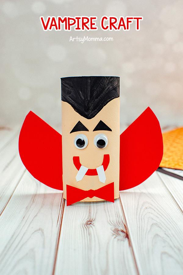 Cardboard Tube Vampire Craft for Kids