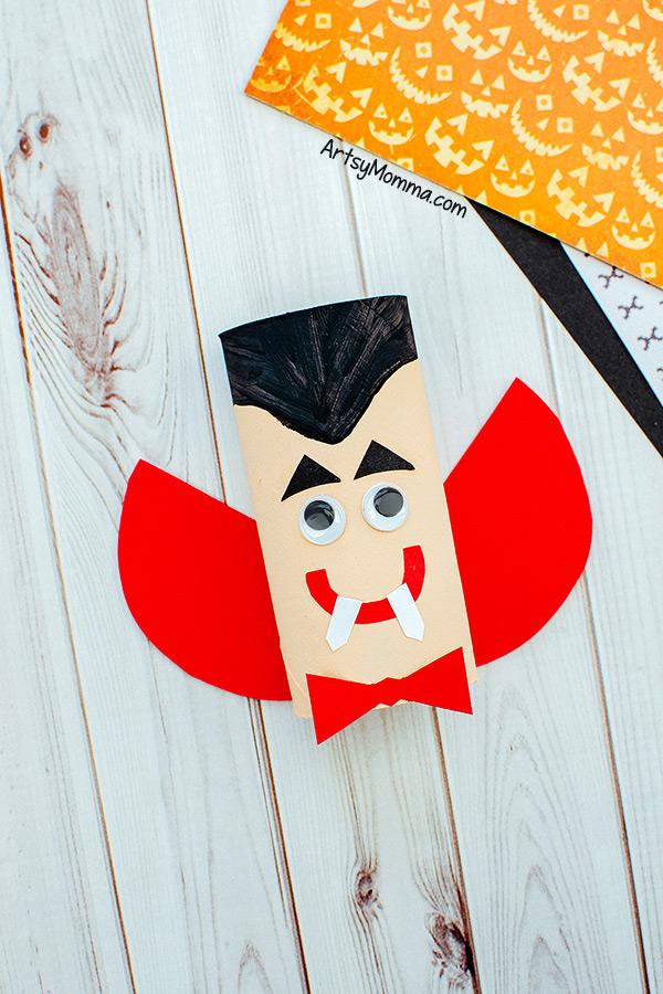 Recycled Cardboard Tube Vampire or Dracula Craft Idea
