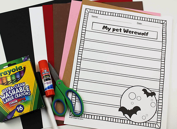 My Pet Werewolf Writing Template
