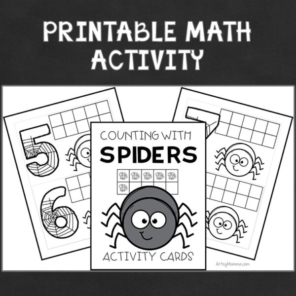 Spider Math Cards #'s 1-10 - How many flies did each spider it. Color the flies.
