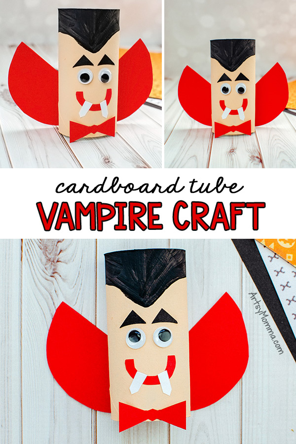 Recycled Cardboard Tube Vampire Craft