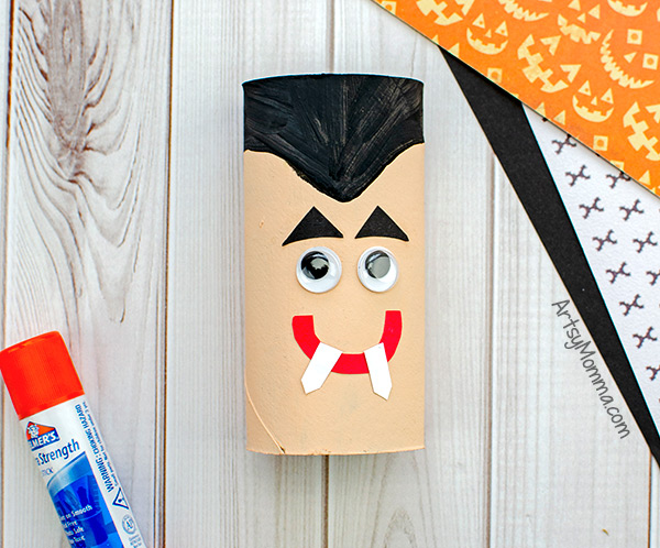 Vampire Cardboard Tube Craft
