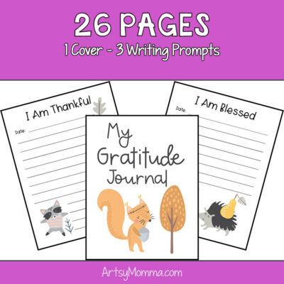 Kids Gratitude Journal Template – Forest Friends Theme