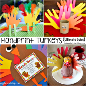 HUGE list of turkeys made from handprints