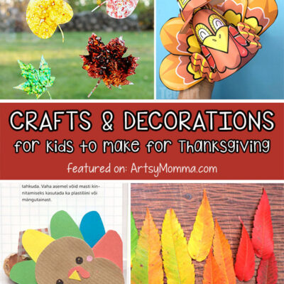 Fall into Thanksgiving with Kids DIY Decorations and Craft Ideas