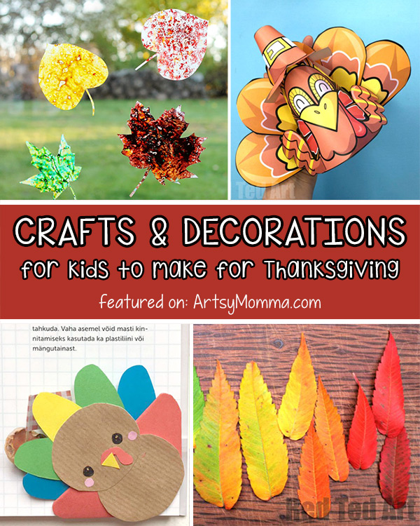 DIY Decorations & Crafts for Thanksgiving with Kids