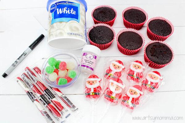 north pole santa cupcakes ingredients