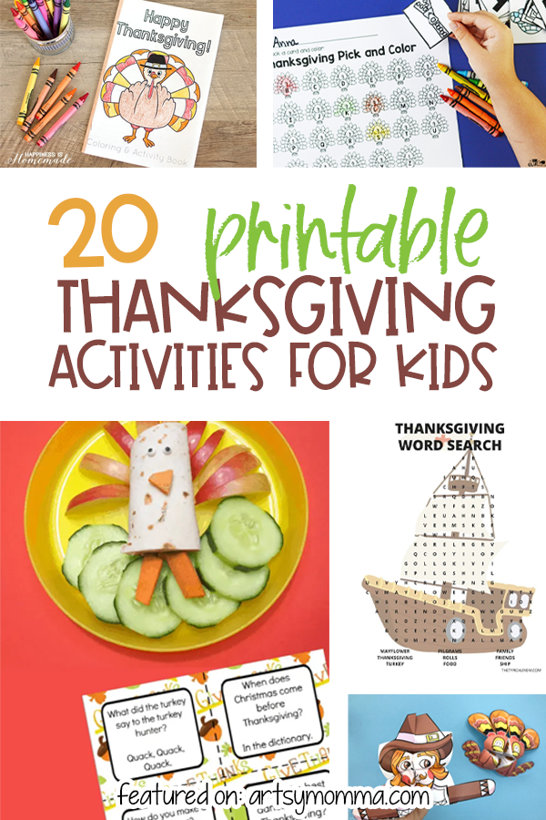 Fun Thanksgiving Activity Printable to keep kids busy on Turkey Day