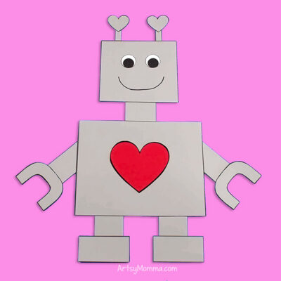 Printable Robot Paper Craft Template for Kids – Easy to make!