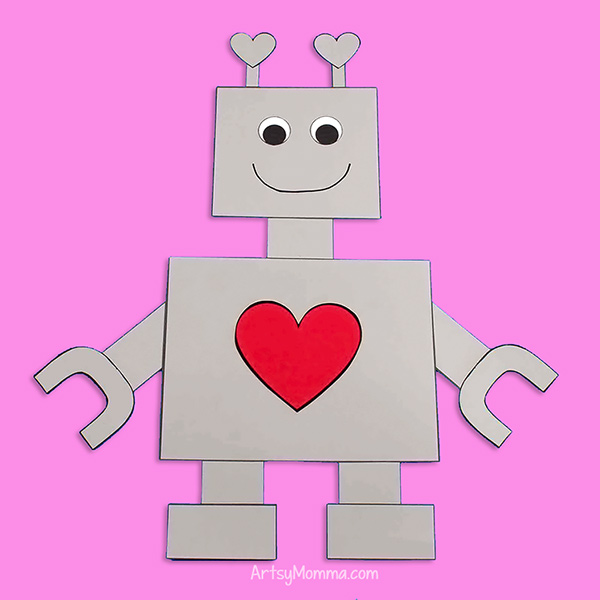 Robot Paper Craft from printable template