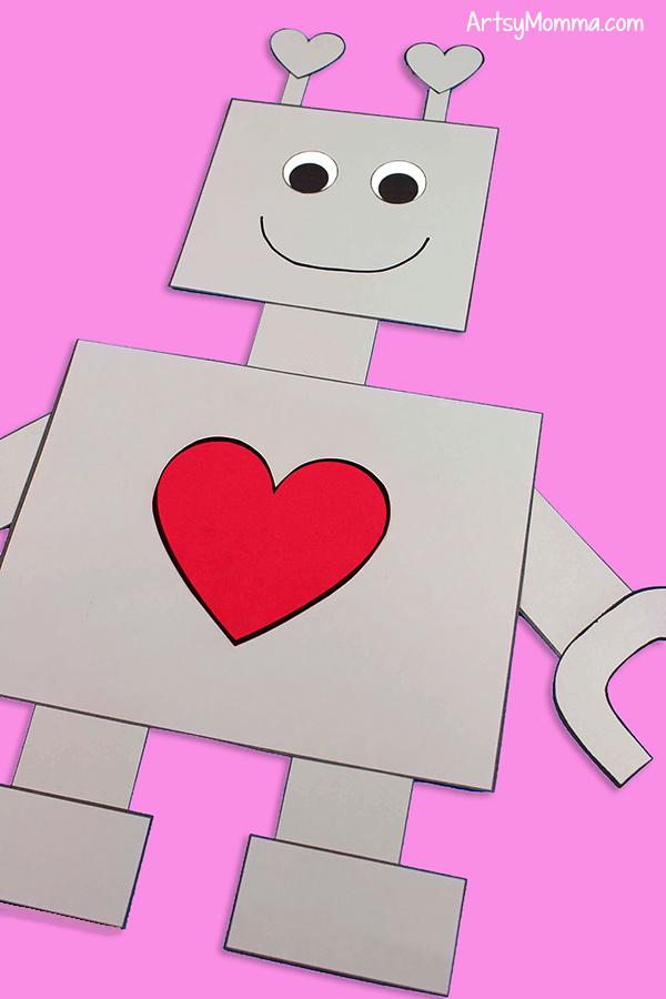 Valentine's Day Robot Craft for Kids