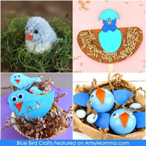 4 Blue Bird Crafts for Kids