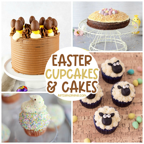 nrown easter cakes * cupcakes, sheep cupcakes