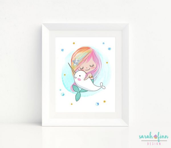 Narwhal Mermaid Room Decor