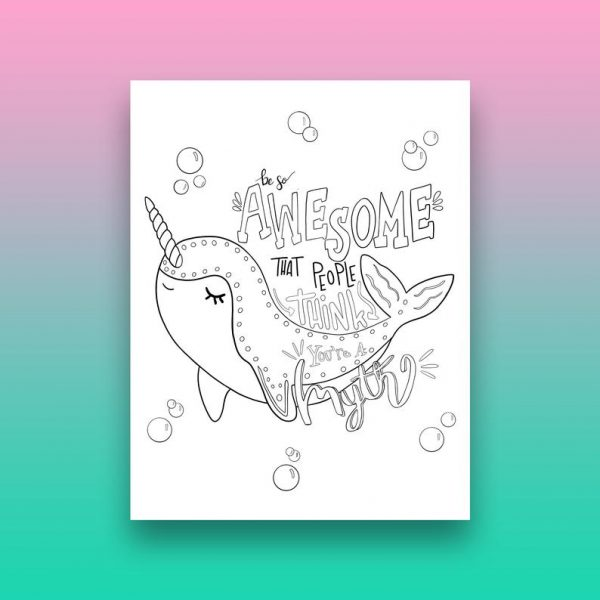 Narwhal Coloring Page