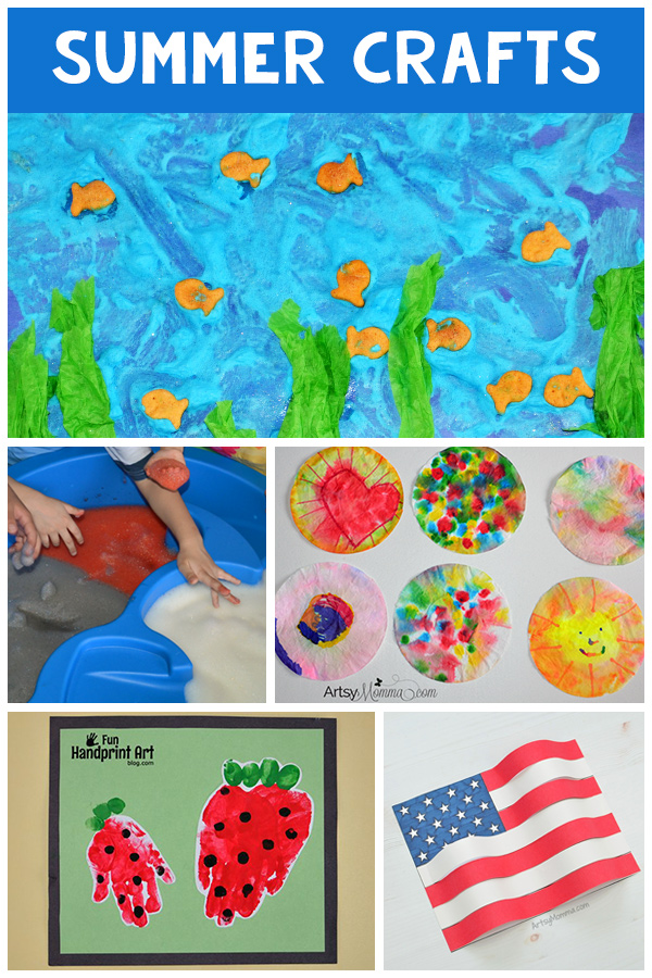 Summer Activities and Crafts Collage