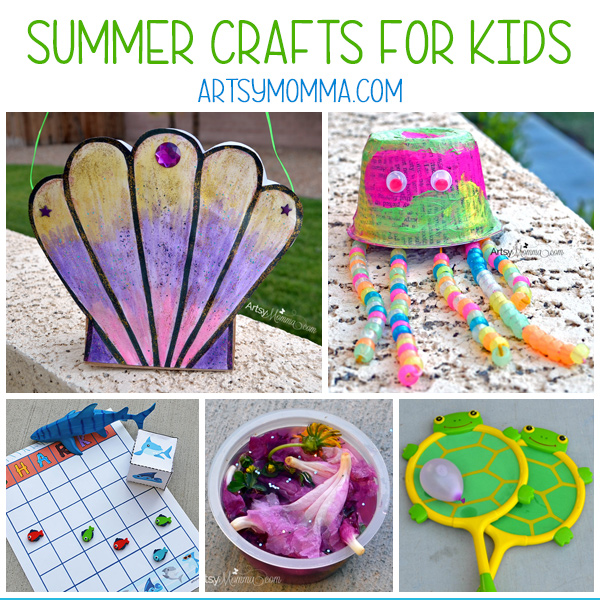 Summer Crafts & Activities Collage