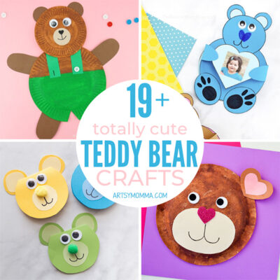 19+ Cute Teddy Bear Crafts Your Kids Will Love
