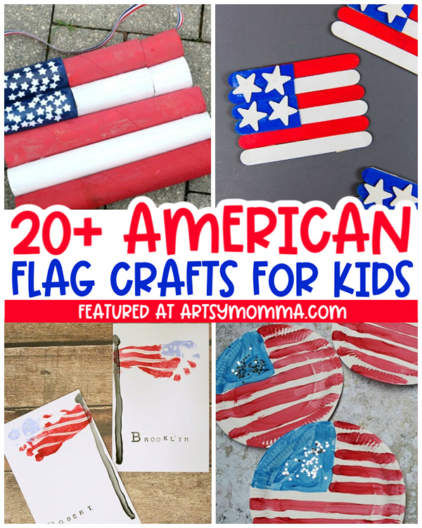 4  American Flag Crafts for Kids