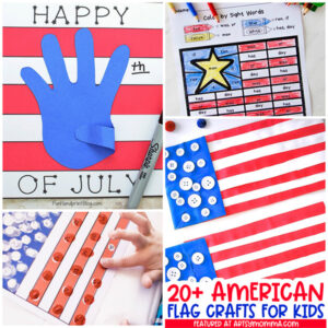 Patriotic American Flag Kid Crafts