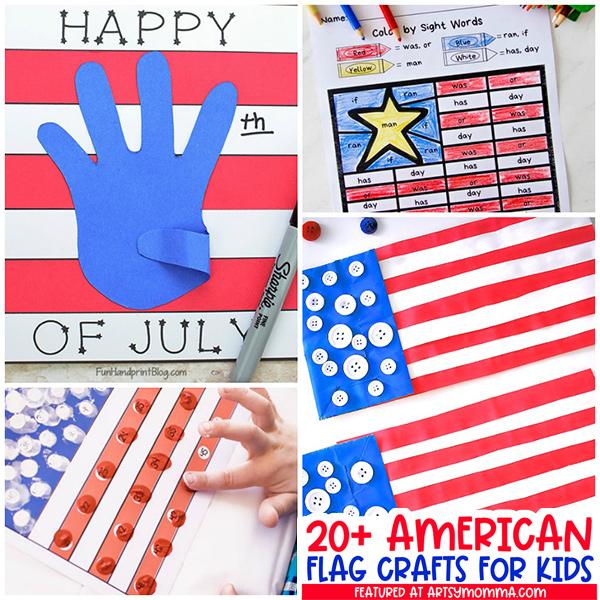 Patriotic American Flag Kid Crafts