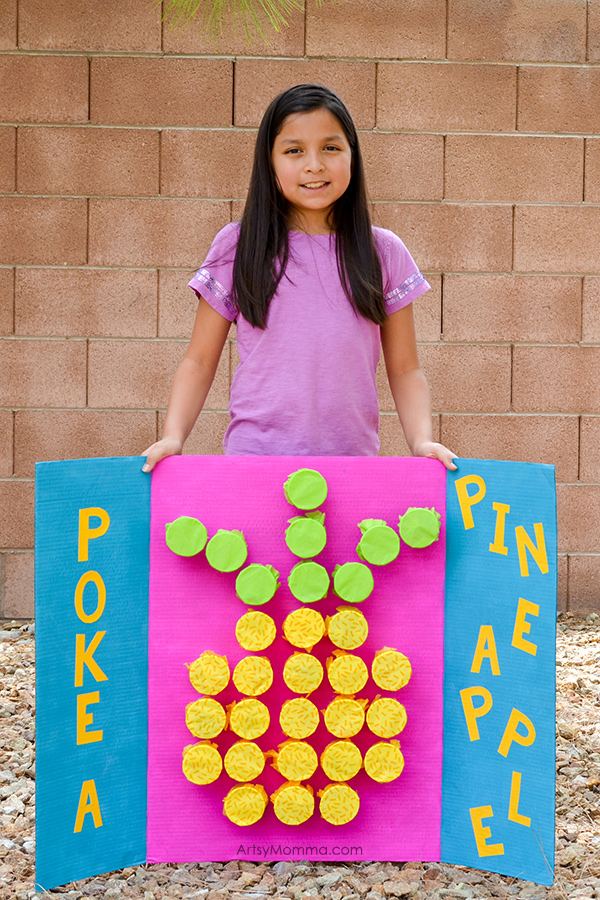 DIY Poke-A-Pineapple Prize Cup Countdown Activity Board