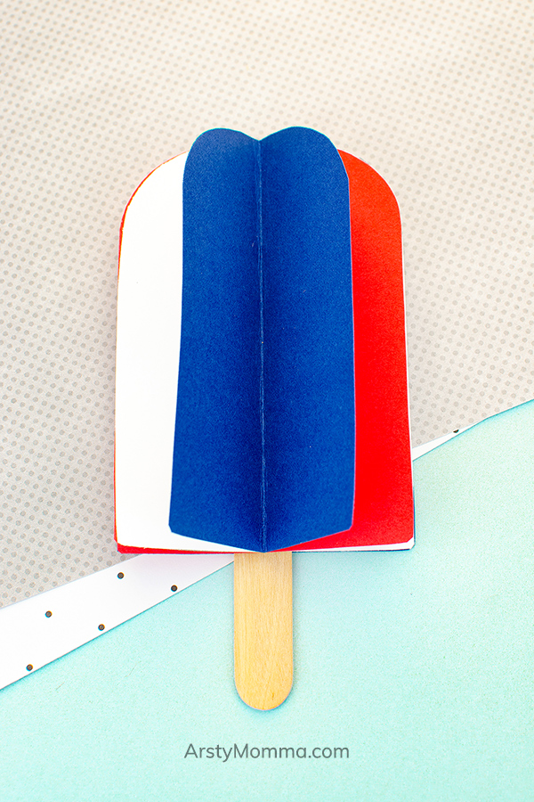 3D popsicle craft made from paper