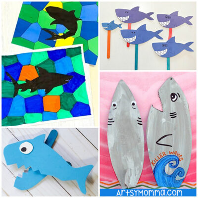 20 Fun Shark Crafts for Kids