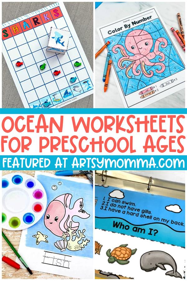 Hands-on Ocean Worksheets for Preschool Ages