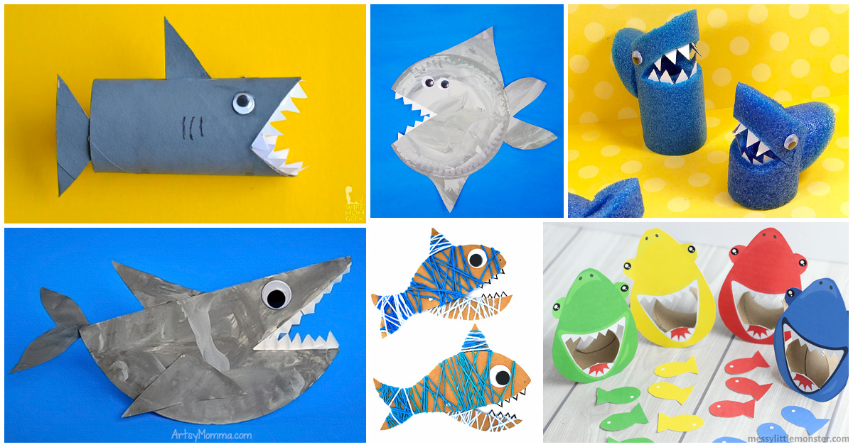 kids shark craft ideas