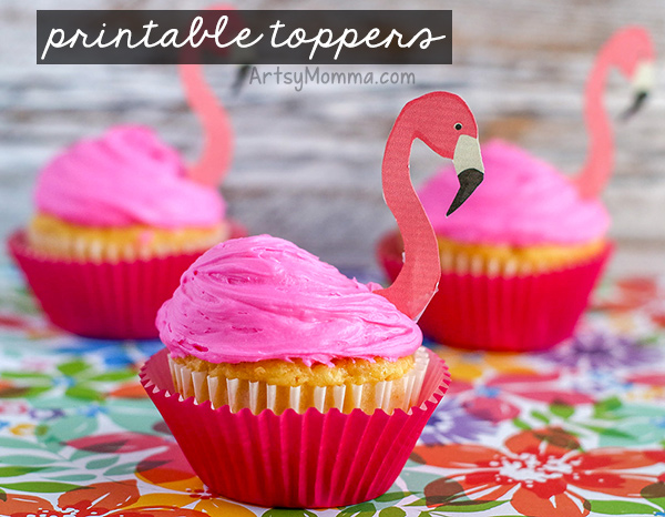 DIY Cupcakes for Flamingo Party