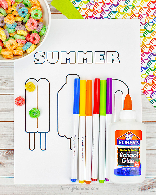 Popsicle Coloring Page for Summer