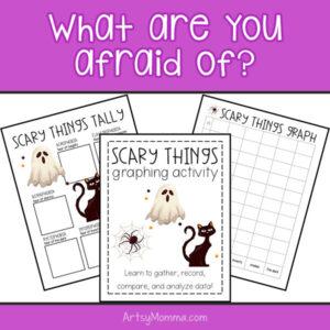 Phobia Bar Graph & Tallying Worksheet for Halloween