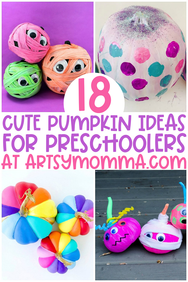 4 Bright Colored Pumpkin Decorating Ideas