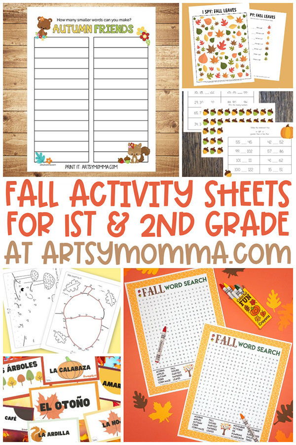 Printable Fall Worksheets & Activities